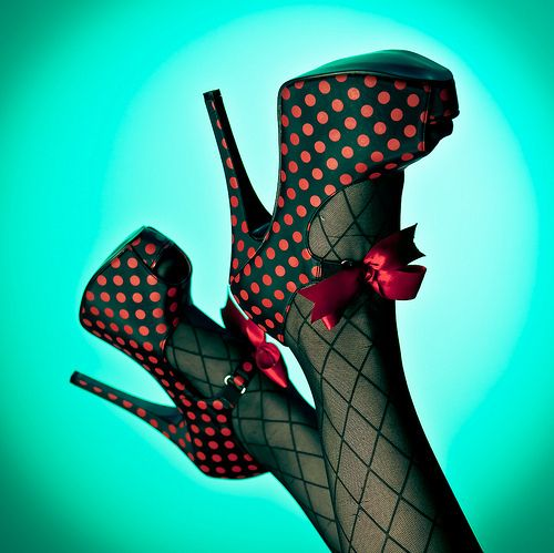 polka dotted shoes!