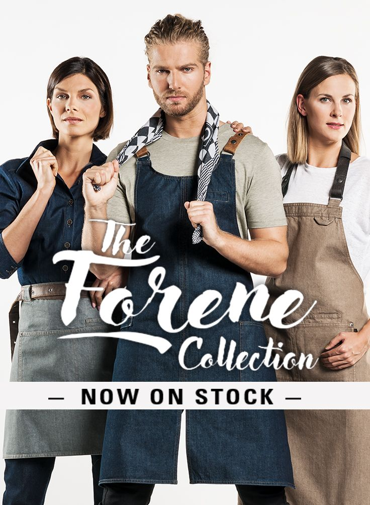 A new collection of aprons and bib aprons, specially designed for service staff. Chaud Devant introduces the Forene!  #chauddevant #chefwear #servicewear #aprons #bibaprons #cheffashion #chefstyle #chef #chefs #apron #bibapron #gastronomy #horeca #cheflife #collection