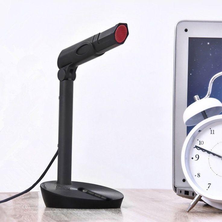 TNB-MIC01 USB Plug and Play Studio Adjustable Desktop/Laptop Microphone, Black #TreeNewBee