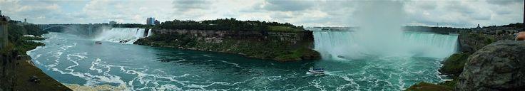 Chutes des USA et du Niagara voisine l'une de l'autre (photo personnelle)