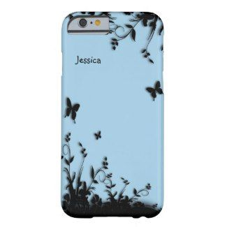 Cornflower Blue Butterfly Garden Personalized iPhone 6 Case Cornflower Blue Butterfly Garden Personalized by kahmier Browse for iPhone 6 Cases at Zazzle