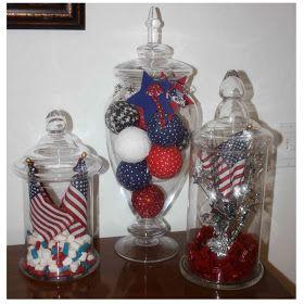 4th of july vase fillers