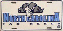 (6x12) University of North Carolina Tar Heels NCAA Tin License Plate