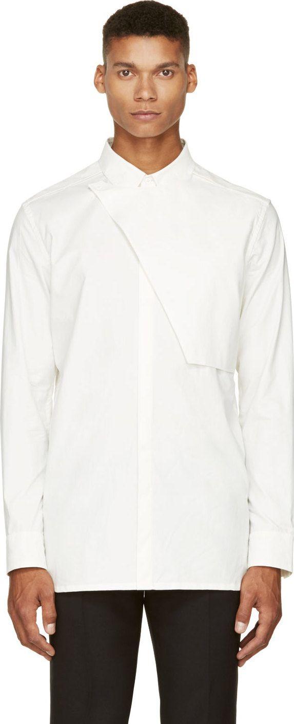 Helmut Lang: White Poplin Placket Shirt | SSENSE