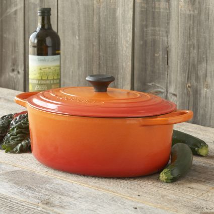 Le Creuset® Signature Flame Oval French Ovens | Sur La Table