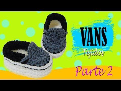 Vans Tejidos a crochet | parte 2/2 - YouTube