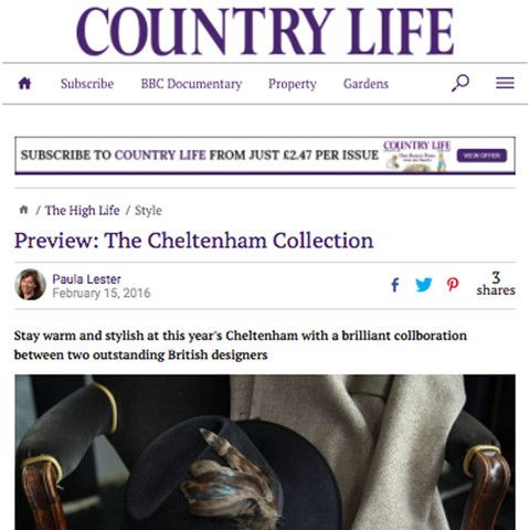'Stay warm and stylish at this year's Cheltenham with a brilliant collaboration between two outstanding British designers' ____________  Thanks to Paula Lester,