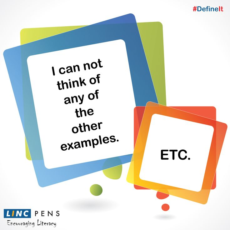 #etc #Definition with a #twist