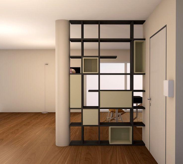 parete divisoria in un loft interior design project