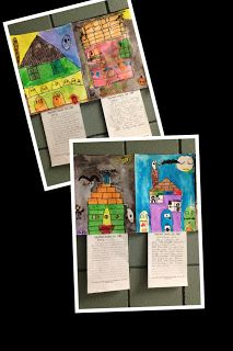 Haunted Houses for Sale Writing and Art Project.