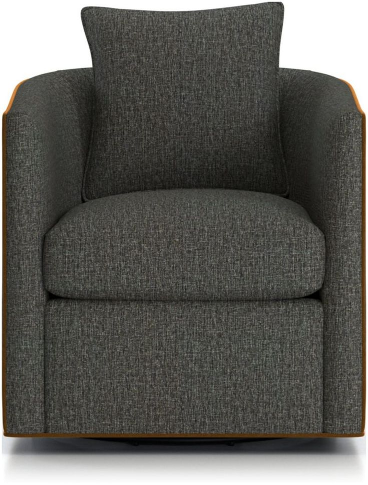 Drew small swivel chair reviews crate and barrel in