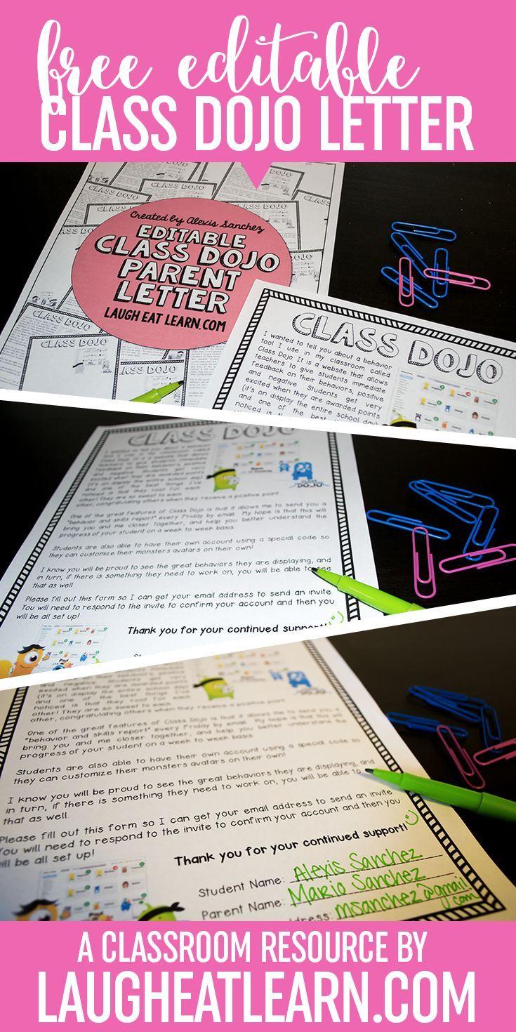 Class Dojo // Editable Parent Letter {FREEBIE} Class