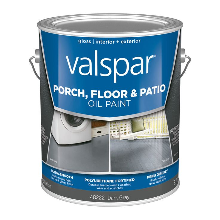 Valspar Dark Gray Gloss Interior/Exterior Porch and Floor Paint (Actual Net Contents: 128 Fluid Ounce(S))