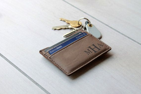 Leather Money Clip Personalized Money Clip Leather by Etchey