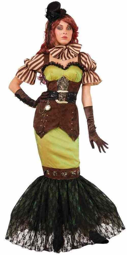 Siren Mermaid Steampunk Fairytales Fancy Dress Up Halloween Sexy Adult Costume #FORUM #CompleteOutfit