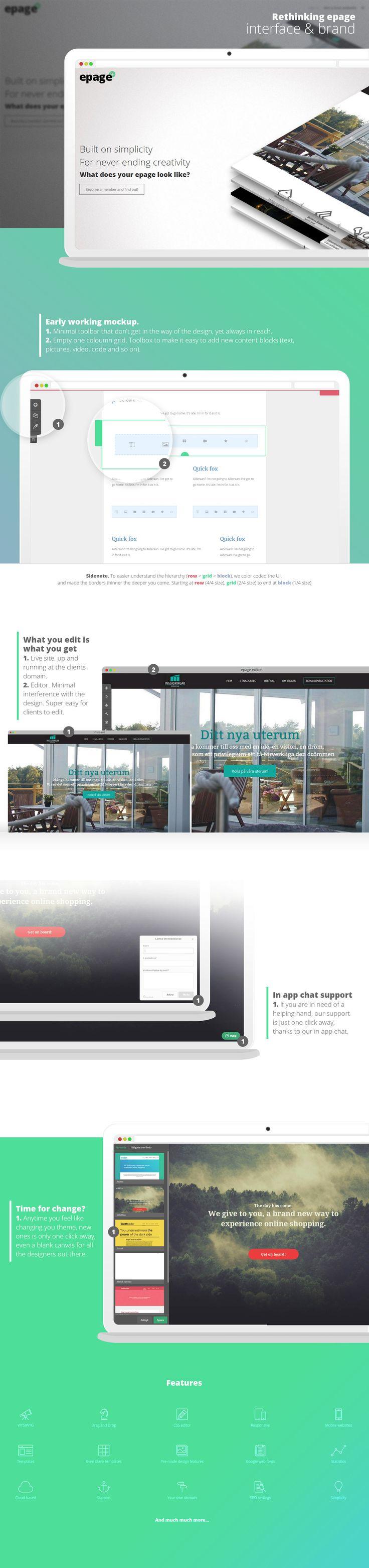 Rethinging epage. UI & Brand. on Behance