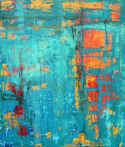 A Window to the Soul - this painting was one of 25 pieces commissioned by the Omni Hotel Dallas www.ginamariedunn.com