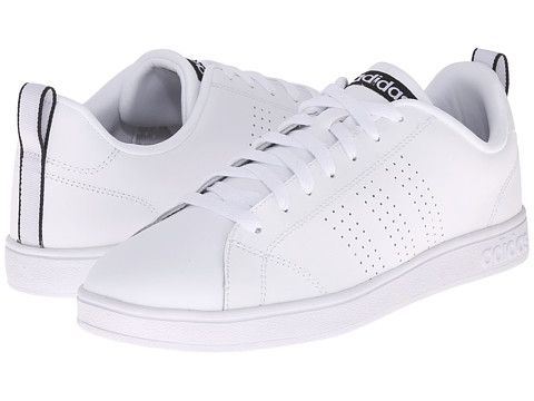 adidas Advantage Clean VL White/White/Black - 6pm.com