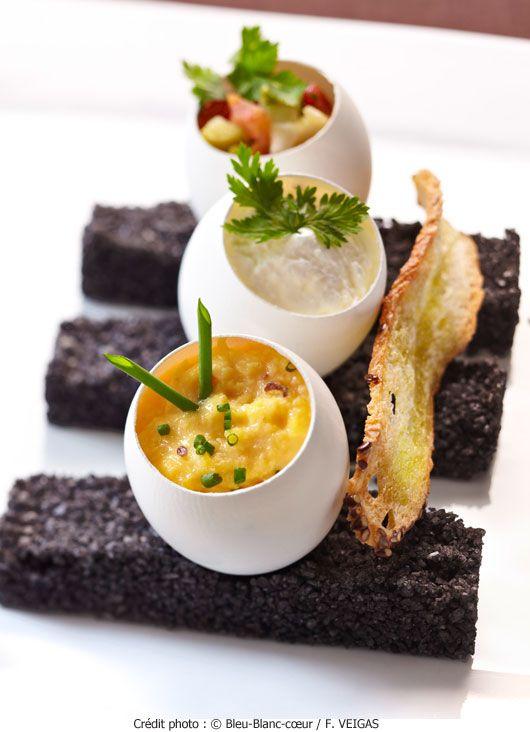 Brouillade d'œufs Bleu-Blanc-Cœur | A Vos Assiettes