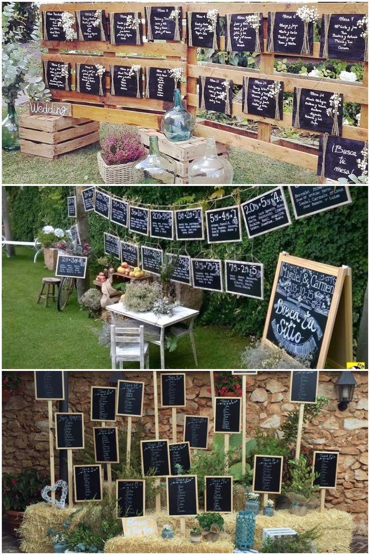 Entra aquí para encontrar tips originales para el seating plan de tu boda. La idea de los árboles es preciosa ¡¡Tus invitados van a alucinar!!