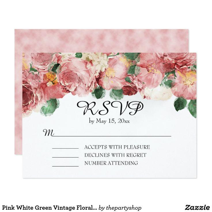 18 besten wedding invitations pink vintage floral bilder auf