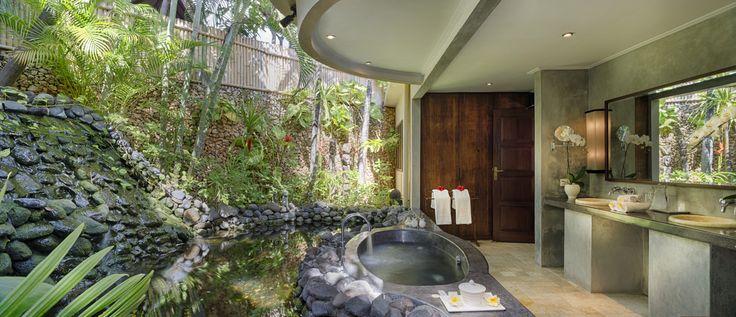 Villa 11 bathroom at Villa Kubu, Seminyak, Bali