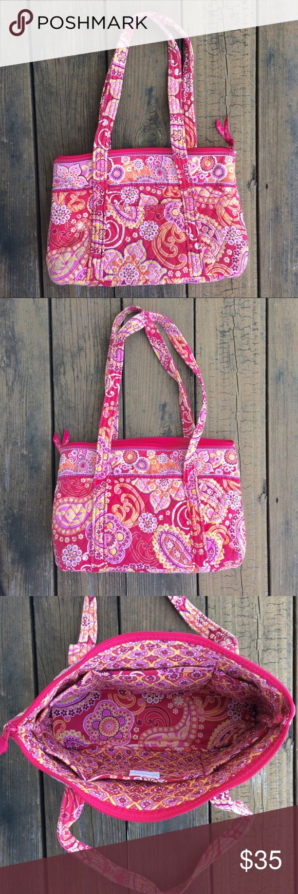 Selling this Pink/Yellow/White Vera Bradley Tote Bag on Poshmark! My username is: ksreeder. #shopmycloset #poshmark #fashion #shopping #style #forsale #Vera Bradley #Handbags