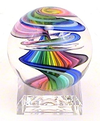 "American Signed Glass Marbles for Sale ""Rainbow Belted"
