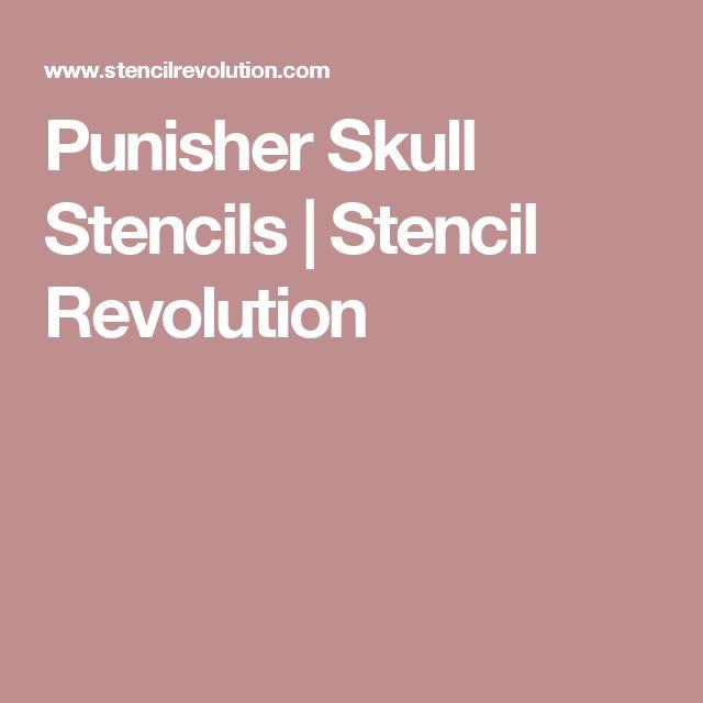 Punisher Skull Stencils | Stencil Revolution