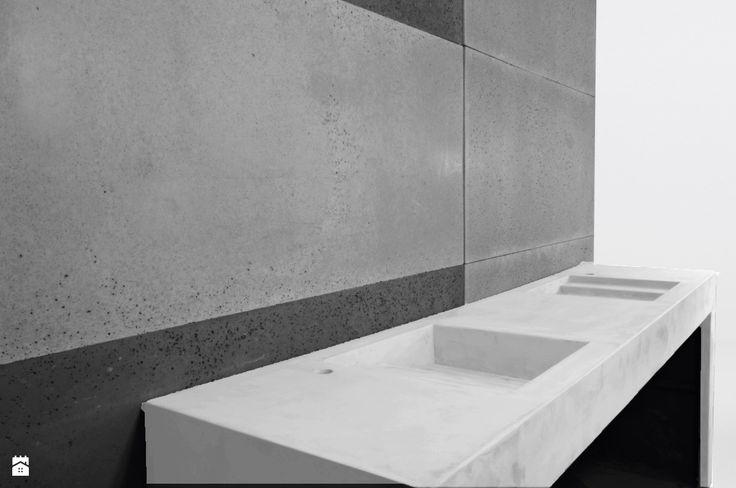 Umywalka z betonu architektonicznego - biała - zdjęcie od Bettoni - Beton Architektoniczny - Łazienka - Styl Nowoczesny - Bettoni - Beton Architektoniczny