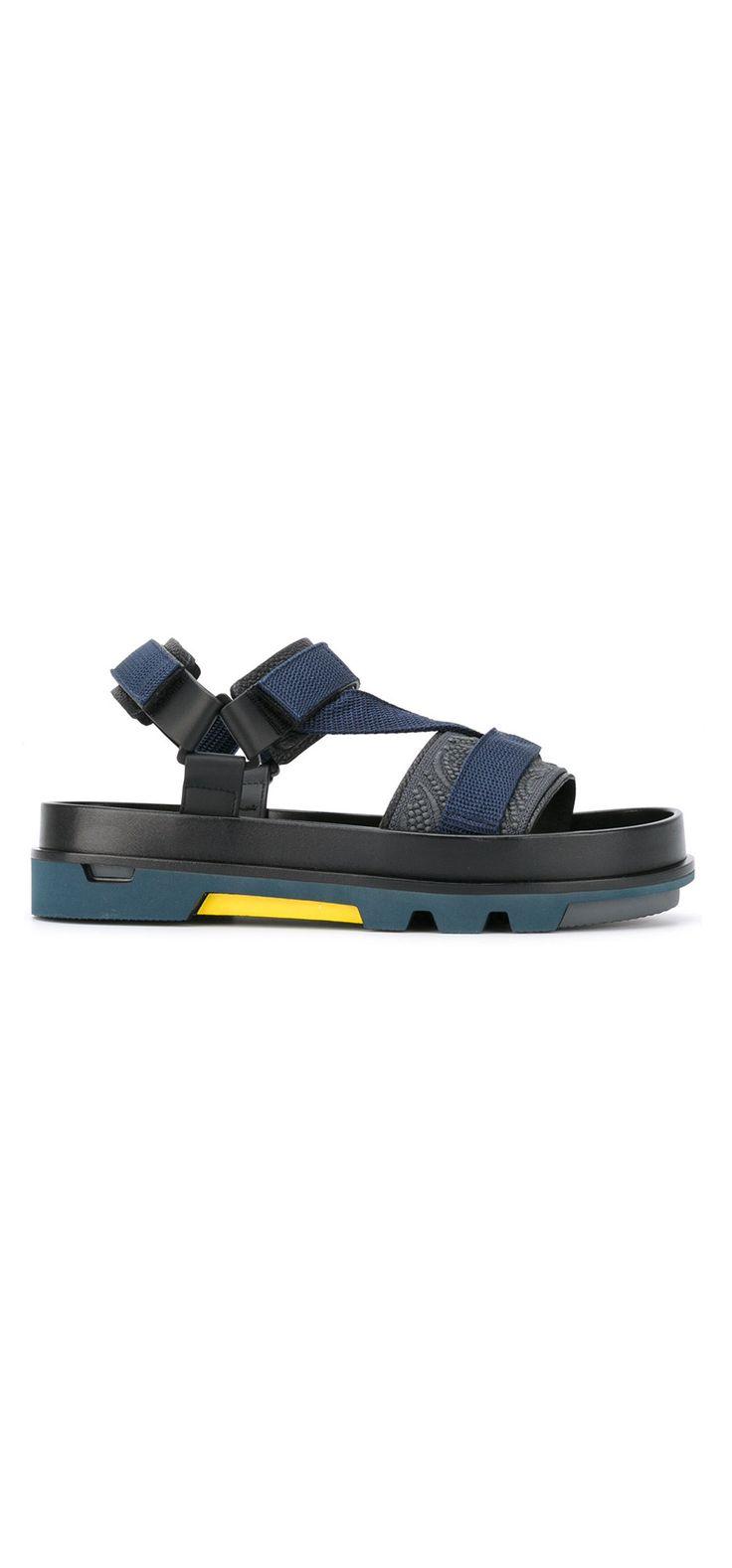 EMPORIO ARMANI chunky sole sandals, explore new season shoes on Farfetch.