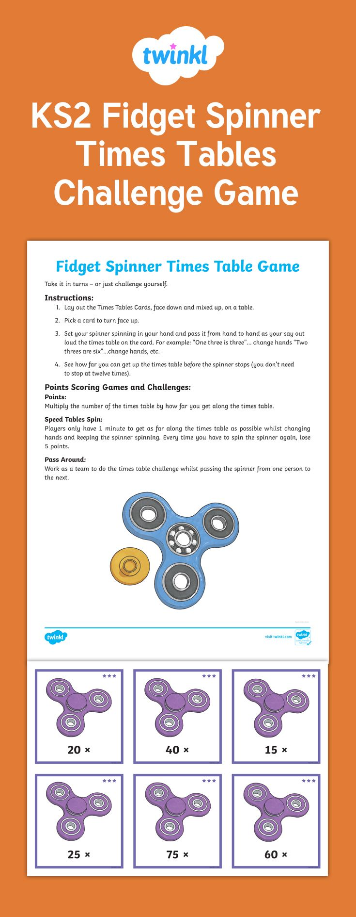 Best 25 maths times tables games ideas on pinterest 3 times ks2 fidget spinner times tables challenge game learning based on the fidget spinners craze gamestrikefo Image collections