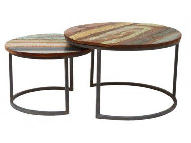 salontafel rond steigerhout - Google zoeken