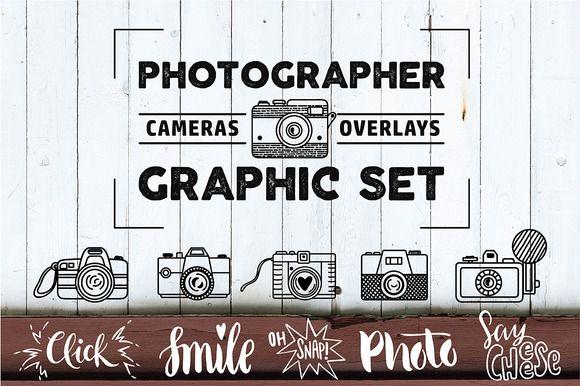 PHOTOGRAPHER. Cameras&Overlays Set by Maria Galybina on @creativemarket