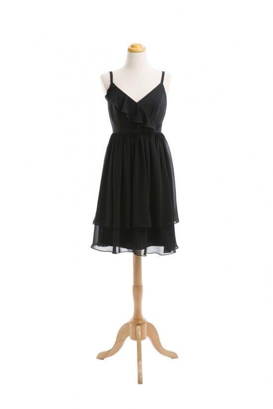 ► Vestido para damas de honor en negro. #vestidos #damasdehonor