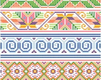 Mexicanos Folkloricos  Mexican Cross Stitch Borders PDF