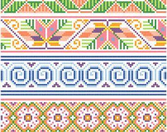 Mexicanos Folkloricos  Mexican Cross Stitch Borders PDF
