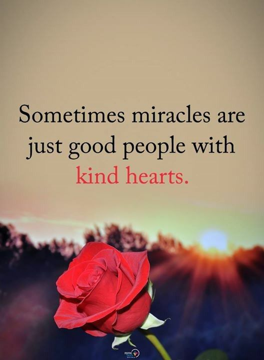 Sometimes miracles are just good people with kind hearts. #iamonemind #success #motivation #inspiration #wordporn #lawofattraction #lifestyle #mindset #mentor #universe #gratitude #yingyang #higherconsciousness #light #peace #love #weareone #freeyourmind #awareness #evolve #higherself #quotes