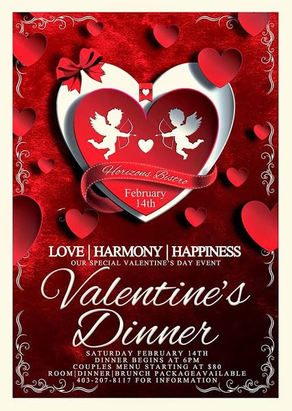 This Valentine's Day, show her how much you care with our Love, Harmony, Happiness package. A three course dinner for two with a bottle of our house wine, a superior guest room and brunch for two on Sunday morning. Truly an amazing romantic experience, contact us at 403-207-8117 for details.
