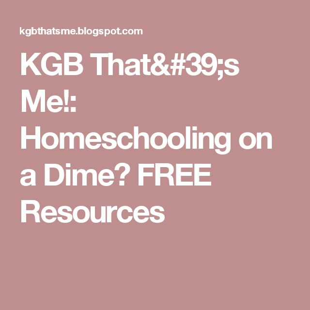 KGB That's Me!: Homeschooling on a Dime? FREE Resources