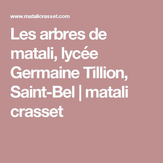 Les arbres de matali, lycée Germaine Tillion, Saint-Bel | matali crasset