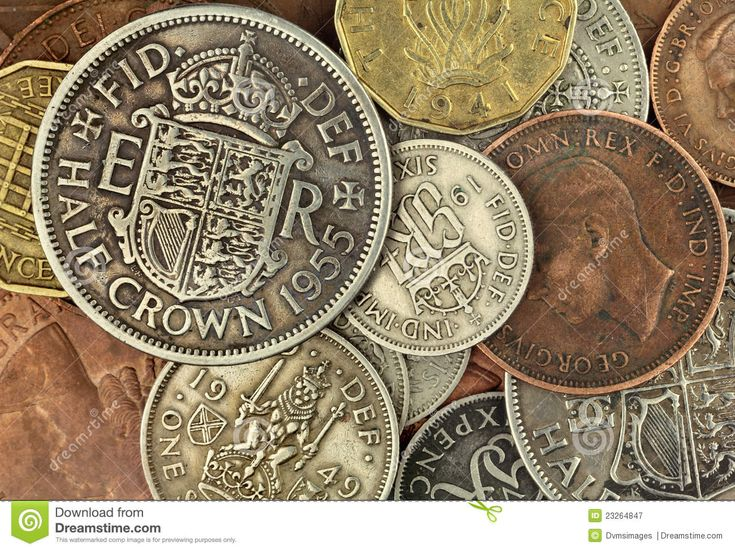 Old British Coins - Download From Over 41 Million High Quality Stock Photos, Images, Vectors. Sign up for FREE today. Image: 23264847