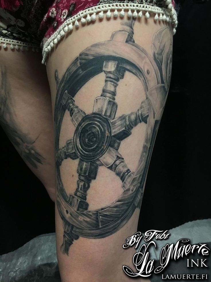Helm tattoo by Febianto Eskelinen @ La Muerte Ink