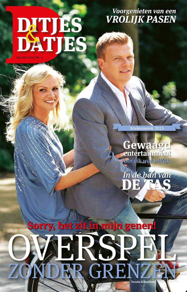 Cover Ditjes & Datjes 3, 2015 met Tooske en Bastiaan Ragas. #ditjesendatjes