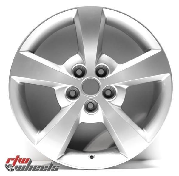 """17"""" Chevy Malibu oem replica wheels 2008-2012  for rims 5334 - https://www.rtwwheels.com/store/shop/17-chevy-malibu-oem-replica-wheels-for-sale-rims-aly05334u20n/"""