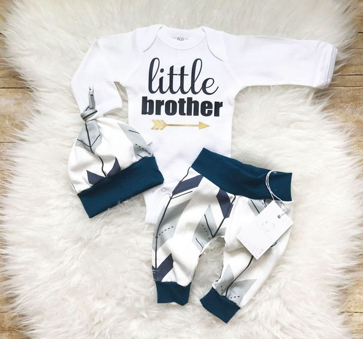 Little Brother Outfit Coming Home Baby Boy Outfit Organic Baby Boy Outfit Newborn Boy Clothes Baby Boy Leggings Hat Baby Shower Gift by LLPreciousCreations on Etsy https://www.etsy.com/listing/526887927/little-brother-outfit-coming-home-baby