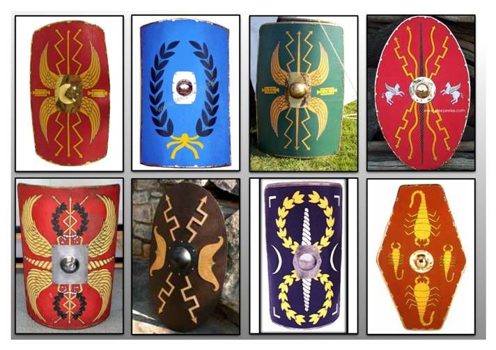 how to make a roman shield
