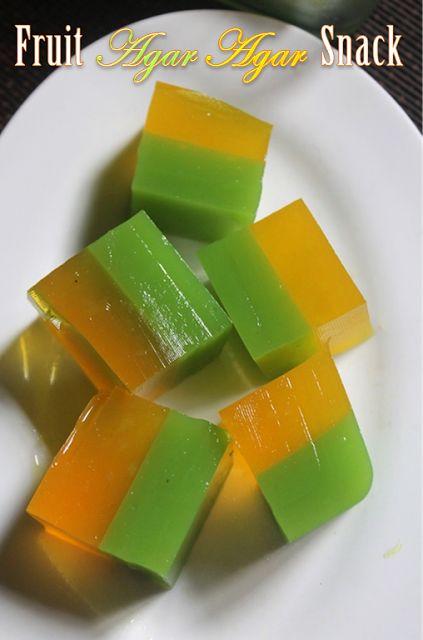 YUMMY TUMMY: Fruit Agar Agar Snack Recipe - Fruit Jelly Recipe - Agar Fruit Jelly Recipe