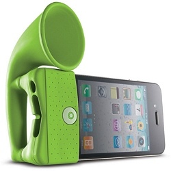 Horn Stand/Amplifier for the iPhone by Bone Collection: Iphone 4S, Horns, Bones, Speakers, Iphone Speaker, Products