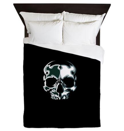 Chrome Skull Queen Duvet on CafePress.com